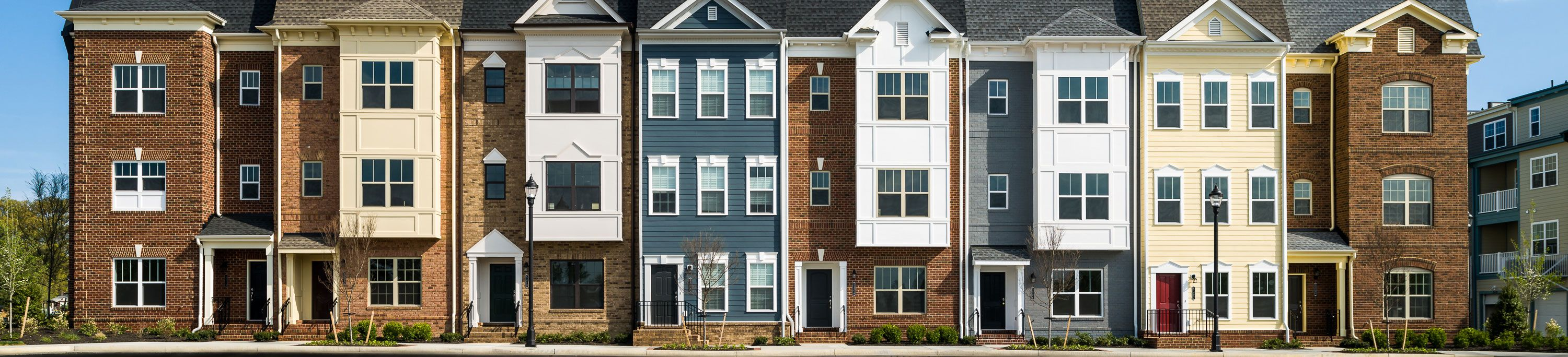 Photo of Libbie Mill townhome elevation